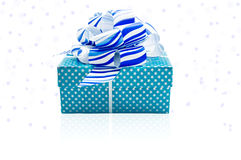 Gift box  on the white background. Gift box  on the white background with  ribbon Royalty Free Stock Photo