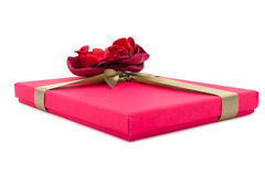 Gift box on white background Royalty Free Stock Images