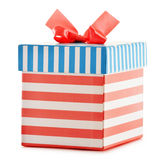 Gift box on white background Stock Photos