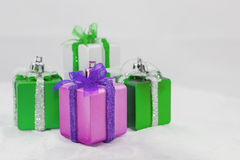 Gift box on white background. For christmas and new year Royalty Free Stock Photos