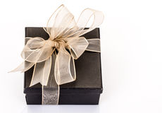 Gift box on white Royalty Free Stock Image