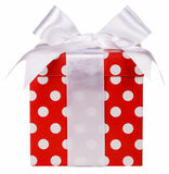 Gift box and white bow. Isolated Royalty Free Stock Photography