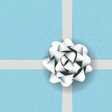 Gift box with White Bow Royalty Free Stock Photo