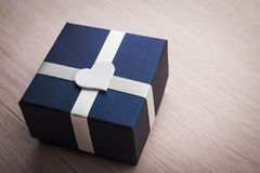 Gift box with white heart shape Royalty Free Stock Photo