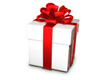 Gift box white Royalty Free Stock Photos