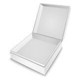 Gift Box White. Open white gift box with cover  on white ready for your design Stock Photography