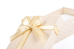 Gift box on white Royalty Free Stock Photos