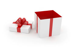 Gift Box on White Surface Stock Photography
