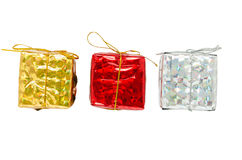 Gift box on whitebackground. Isolated of a gift box with clipping path Stock Photos