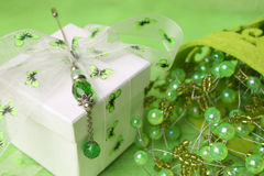 Gift Box With Pin Royalty Free Stock Photos
