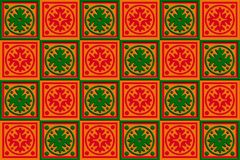 Gift box wrap Red, orange & Green Stock Images