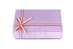 Gift box wrapped decorative ribbon Stock Photo