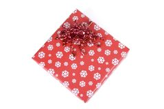 Gift box wrapped up Royalty Free Stock Images