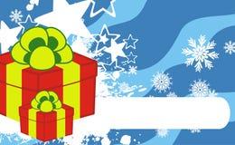 Gift box xmas cartoon background3. Gift box xmas cartoon background in vector format Royalty Free Stock Photo