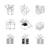 Gift box for xmas designs. Royalty Free Stock Photography