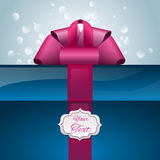 Gift box with your text Royalty Free Stock Images