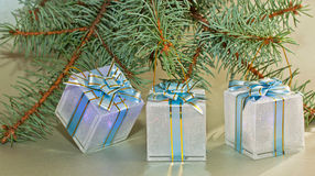 Gift boxe. S with  ribbon bow Stock Image