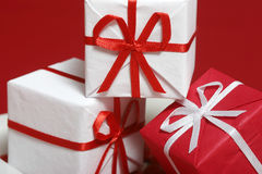 Gift Boxen. Three small gift boxes Stock Photo