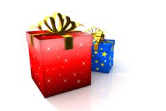 Gift boxes. 3d isolated illustration (christmas / valentine's day / wedding Royalty Free Illustration