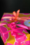 Gift boxes. Two gift boxes on black background Stock Photo