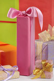 Gift boxes. Group of multicolored gift boxes royalty free stock images