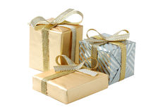 Gift boxes. On a white background Royalty Free Stock Images