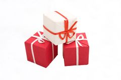 Gift boxes #12. Photo of three Gift BOxes Royalty Free Stock Images