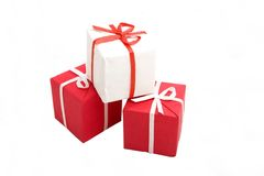 Gift boxes #13. Photo of three Gift BOxes Stock Photo