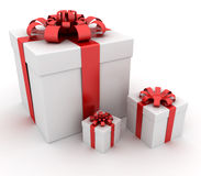Gift boxes. This is a 3D rendered picture Stock Photography