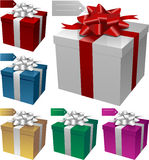 Gift boxes. Vector Gift boxes for Christmas or birthday Royalty Free Stock Photo