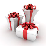 Gift boxes. This is a 3D rendered picture Royalty Free Stock Photo