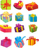 Gift boxes. Illustration of a gift boxes on a white background Stock Photo