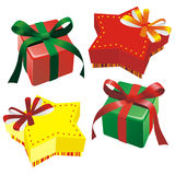 Bright colorful gift boxes Royalty Free Stock Photo