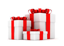 Gift boxes. Isolated on white vector illustration