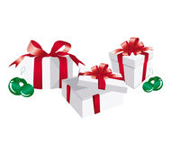 Gift Boxes. Christmas Gifts isolated on white background Royalty Free Stock Photo
