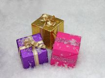 Gift Boxes. Royalty Free Stock Image
