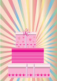 Gift boxes. A set of three gift boxes Royalty Free Stock Photo