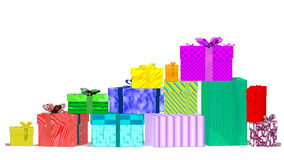 Gift boxes. Isolated on white background Stock Images