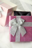 Gift boxes. Beautiful gift boxes in pink shade Royalty Free Stock Photo