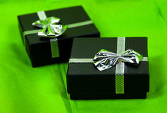 Gift Boxes. Photo of 2 Gift Boxes Royalty Free Stock Photo