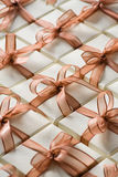 Gift boxes. Arranged. High angle view Stock Image