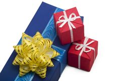Gift boxes #33. Photo of three Gift BOxes Stock Photo