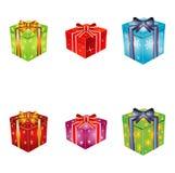 Gift Boxes. Seasonal and Holiday Gift Boxes Stock Photo