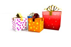 Gift boxes - 3d isolated Stock Photos