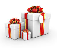 Gift boxes - 3d render Royalty Free Stock Photo