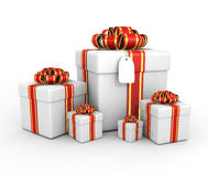 Gift boxes - 3d render Stock Photos