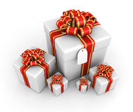 Gift boxes - 3d render Royalty Free Stock Image