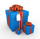 Gift boxes - 3d render. Gift boxes on the white background - 3d render Stock Photography