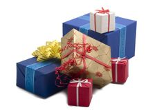 Gift boxes #40. Photo of six Gift BOxes Stock Images