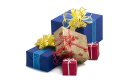 Gift boxes #41. Photo of five Gift BOxes Royalty Free Stock Image